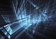 Fractal τέχνη - εικόνα υπολογιστών, τεχνολογικό υπόβαθρο Στοκ φωτογραφίες με δικαίωμα ελεύθερης χρήσης