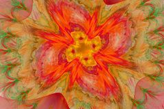 Fractal το διάστημα μοιάζει με το λουλούδι Ελεύθερη απεικόνιση δικαιώματος