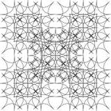 Fractal των rhombuses Μονοχρωματικό σχέδιο των γραμμών και rhombs Στοκ φωτογραφία με δικαίωμα ελεύθερης χρήσης
