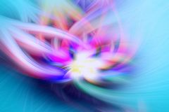 Fractal φλογών μπλε προεξοχή υποβάθρου φαντασία διανυσματική απεικόνιση