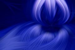 Fractal φλογών σκοτεινό μπλε υποβάθρου θύελλα ελεύθερη απεικόνιση δικαιώματος