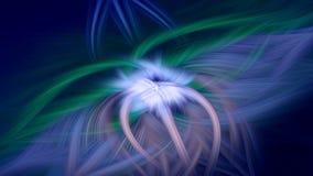 Fractal φλογών σκοτεινό μπλε υποβάθρου φαντασία κόσμου διανυσματική απεικόνιση