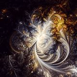 Fractal φτερών του Phoenix τέχνη Στοκ Εικόνες