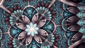 Fractal φτερών του Phoenix τέχνη διανυσματική απεικόνιση