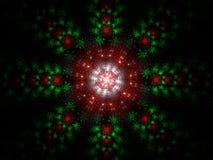 fractal Χριστουγέννων ανασκόπη&sigma Στοκ Εικόνα