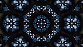 fractal Χριστουγέννων αστέρι νύχτας εικόνας Διακοσμητικό μπλε kaleiddoscope Στοκ Εικόνες