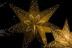 fractal Χριστουγέννων αστέρι νύχτας εικόνας Στοκ Φωτογραφίες