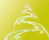 Fractal χριστουγεννιάτικο δέντρο και σφαίρα Στοκ Φωτογραφία