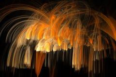 Fractal χρυσός ψεκασμός Στοκ εικόνες με δικαίωμα ελεύθερης χρήσης