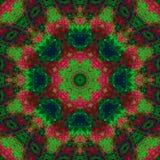Fractal ψηφιακή περίληψη διακοσμήσεων ντεκόρ καλειδοσκόπιων, όμορφο σχέδιο mandala στοκ εικόνα με δικαίωμα ελεύθερης χρήσης