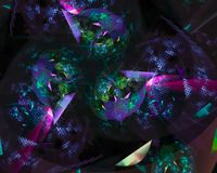 Fractal ψηφιακό αφηρημένο, όμορφο καλλιτεχνικό μαγικό διακοσμητικό σχέδιο μελλοντικό, φανταστικός διανυσματική απεικόνιση
