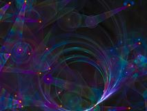 fractal ψηφιακό splatter δημιουργικότητας φαντασίας αφαίρεσης Στοκ Εικόνες