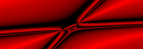 Fractal_05a. Black and red computer-generated fractal background Stock Illustration
