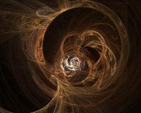 Fractal. Orange and round fractal render Royalty Free Stock Image