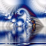 Fractal. An artistic blue colored fantasy fractal background Stock Photo