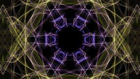 Fractal abigarrado con el efecto multicolor, fibra borrosa, movimiento del túnel, decoración del disco, colores psicodélicos vivo ilustración del vector