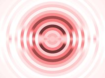 Fractal Abstact Background. Circular red, striped target effect (computer generated, digital abstract background Royalty Free Stock Photo