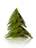 Fractal abstract. Christmas tree (coloured on white vector illustration