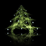 Fractal abstract. Christmas tree with decorations Stock Photos