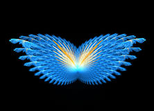 Fractal abstract. Butterfly (black background royalty free illustration