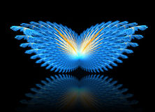 Fractal abstract. Butterfly (with reflection stock illustration