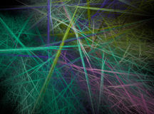 Fractal abstract. Chaotic coloured lines Stock Photography
