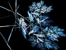 Fractal abstract. Gust of snow flakes vector illustration