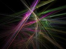 Fractal abstract. Chaotic coloured lines Royalty Free Stock Photos