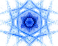 Fractal abstract. Star (hexagon)pattern, texture royalty free illustration