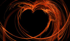 Fractal abstract. Hot heart, background, texture, wallpaper Stock Image