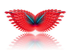Fractal abstract. Butterfly (background, texture, wallpaper stock illustration