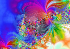Fractal - 3. Abstract, attractive background, color computrs graphics, design, digital graphics, fantastic, graphics, fractal, fractals graphics, pattern Stock Photo