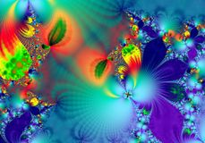 Fractal - 4. Abstract, attractive background, color computrs graphics, design, digital graphics, fantastic, graphics, fractal, fractals graphics, pattern Royalty Free Stock Image