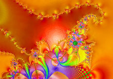 Fractal - 10. Abstract, attractive background, color computrs graphics, design, digital graphics, fantastic, graphics, fractal, fractals graphics, pattern Stock Photo