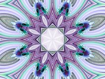 Fractal Abstract Background. Pastel colored, geometric kaleidoscopic effect (computer generated, fractal abstract background Royalty Free Stock Photography