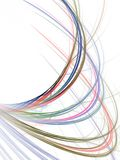 Fractal Abstract Background. Colorful arching, tangled threads (computer generated, fractal abstract background Stock Photography
