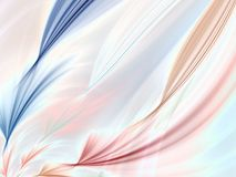 Fractal Abstract Background. Soft flowing and twisting colors (computer generated, fractal abstract background Royalty Free Stock Photos