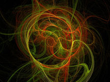 Fractal. Abstract background element. Glowing lines and halftone effects stock illustration