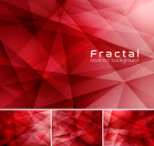 Fractal abstract background. Low poly vector background series, suitable for design element and web background Royalty Free Stock Images