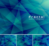 Fractal abstract background. Low poly vector background series, suitable for design element and web background Stock Photos