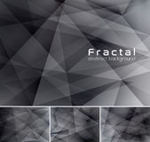 Fractal abstract background. Low poly vector background series, suitable for design element and web background Royalty Free Stock Photo