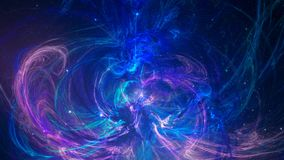 Fractal abstract background in violet and blue color. Illustration Stock Images