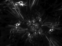 Fractal abstract, digital decoration texture fantastic artwork background, creative design, chaos black and white. Fractal abstract, digital background creative vector illustration