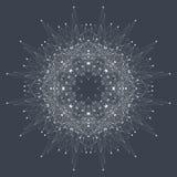 Fractal abstract element met verbonden lijnen en punten, illustratie Royalty-vrije Stock Foto's