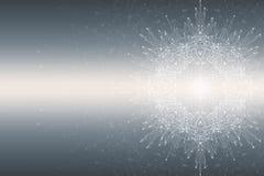 Fractal abstract element met verbonden lijnen en punten, illustratie Stock Fotografie