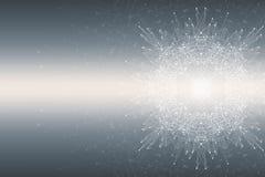 Fractal abstract element met verbonden lijnen en punten, illustratie Royalty-vrije Stock Afbeelding
