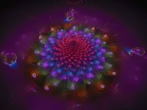 Fractal abstract flower beautiful blossom unique. Fractal abstract flower beautiful blossom, unique Royalty Free Stock Photos