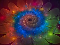 Fractal abstract flower beautiful blossom unique dynamic. Fractal abstract flower beautiful blossom, unique dynamic Stock Photo