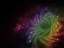 Fractal abstract flower beautiful color fantasy effect dark wallpaper blossom unique dynamic. Fractal abstract flower beautiful blossom, unique dynamic space Stock Images