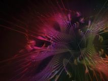 Fractal abstract flower beautiful fantasy effect dark wallpaper blossom unique dynamic. Fractal abstract flower beautiful blossom, unique dynamic space dark Royalty Free Stock Photo